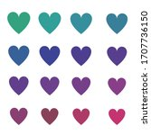 a set of hearts of different... | Shutterstock .eps vector #1707736150
