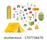flat vector illustration set of ... | Shutterstock .eps vector #1707738670