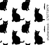 cats seamless pattern | Shutterstock .eps vector #170773979