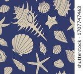 seamless pattern background of... | Shutterstock .eps vector #1707747463