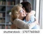 Loving Elderly Mother In...