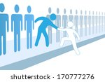 member gives a hand up to help... | Shutterstock .eps vector #170777276
