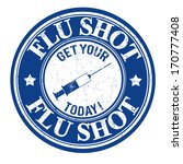 flu shot  get your today grunge ... | Shutterstock .eps vector #170777408