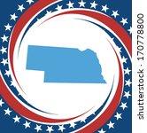 label with map of nebraska ... | Shutterstock .eps vector #170778800