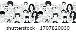 decorative diverse women's men... | Shutterstock .eps vector #1707820030