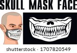 mask of face with skull and... | Shutterstock .eps vector #1707820549