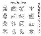 set of hospital related vector...   Shutterstock .eps vector #1707824059