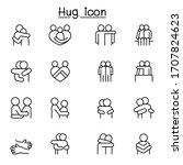 lover  hug  friendship ... | Shutterstock .eps vector #1707824623