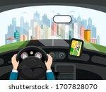 Driving Car Concept. Hands...