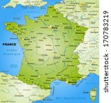 map of france as an overview... | Shutterstock . vector #170783219