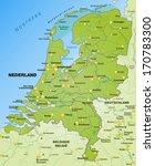 map of netherlands as an... | Shutterstock . vector #170783300