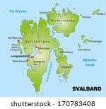 map of svalbard as an overview... | Shutterstock . vector #170783408