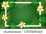 summer greeting card  banner ... | Shutterstock .eps vector #1707839203