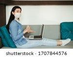Health Care And Hygiene. Woman...