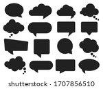 vector speech clouds chat... | Shutterstock .eps vector #1707856510