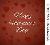 valentines day greeting card.... | Shutterstock .eps vector #170788370