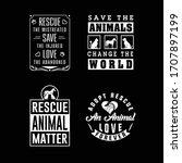 rescue animal adopt dog cat...   Shutterstock .eps vector #1707897199