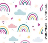 seamless vector pattern with...   Shutterstock .eps vector #1707898333