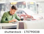 student using tablet computer... | Shutterstock . vector #170790038