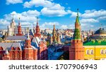 Red Square With Moscow Kremlin...