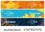 autumn sale. banners for 50 ... | Shutterstock .eps vector #1707907570