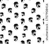 vector hipster seamless pattern ... | Shutterstock .eps vector #1707908416