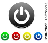 power button on off icon vector.... | Shutterstock .eps vector #1707909940