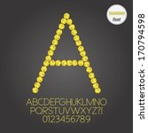 yellow diamond alphabet and... | Shutterstock .eps vector #170794598