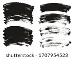 flat paint brush thin curved... | Shutterstock .eps vector #1707954523