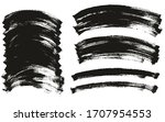 flat paint brush thin curved... | Shutterstock .eps vector #1707954553