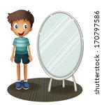illustration of a boy standing... | Shutterstock . vector #170797586