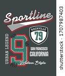 sportline 9 san francisco... | Shutterstock .eps vector #1707987403