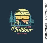 camping and outdoor logo... | Shutterstock .eps vector #1707988780