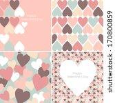 vector set of valentines... | Shutterstock .eps vector #170800859