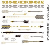 a set of cute hipster arrows ... | Shutterstock .eps vector #170801360
