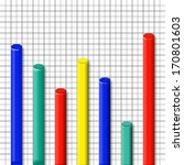 chart graphic with columns with ... | Shutterstock . vector #170801603