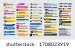 tv news bars set vector.... | Shutterstock .eps vector #1708023919