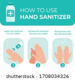 how to use hand sanitizer...   Shutterstock .eps vector #1708034326