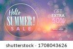 hello summer design concept.... | Shutterstock .eps vector #1708043626