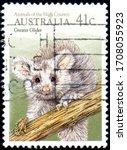 australia   circa 1990  stamp... | Shutterstock . vector #1708055923