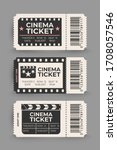 cinema ticket set isolated on... | Shutterstock . vector #1708057546