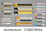 news lower thirds pack.tv news... | Shutterstock .eps vector #1708078966