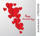 valentines day abstract... | Shutterstock .eps vector #170810420