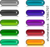 beautiful shiny buttons. vector ... | Shutterstock .eps vector #17081707
