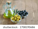 Olive Oil Bottle  Black And...