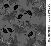 vintage watercolor seamless... | Shutterstock . vector #1708195210