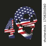 american flag birthday 4th of... | Shutterstock .eps vector #1708201060