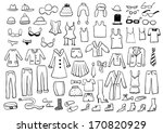 clothes sketches | Shutterstock .eps vector #170820929
