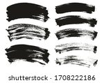 flat paint brush thin curved... | Shutterstock .eps vector #1708222186
