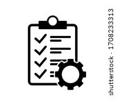 clipboard and gear vector icon. ...   Shutterstock .eps vector #1708233313